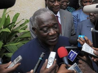 Le secrétaire général du PDCI Alphonse Djédjé Mady en février 2010, à Abidjan. AFP/Issouf Sanogo