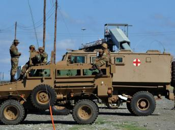 L'Afrique du Sud avait investi quelque cinq milliards d'euros pour moderniser son armée sous Thabo Mbeki. AFP PHOTO / ALEXANDER JOE