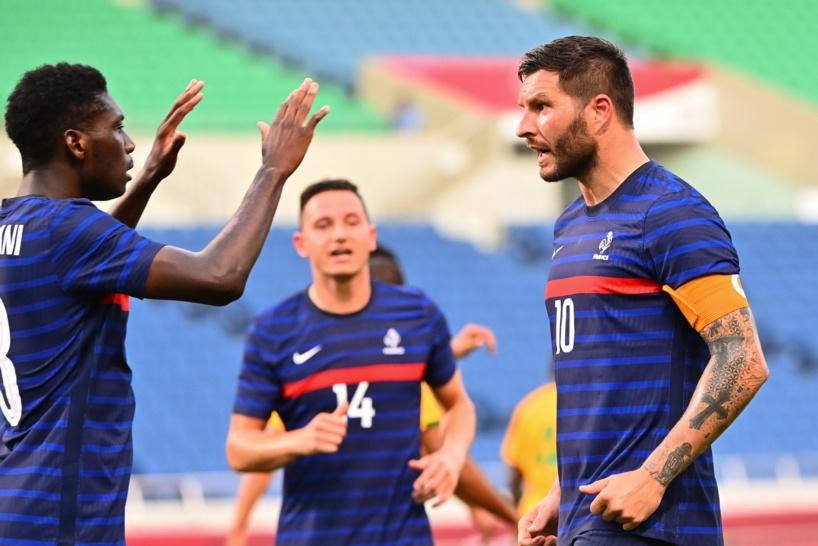 JO Tokyo: les Bleus remportent un match fou face à l'Afrique du Sud (4-3), grâce à un triplé de Gignac