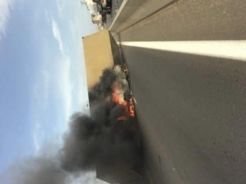 Autoroute à péage : un camion en feu à la sortie de Keur Massar