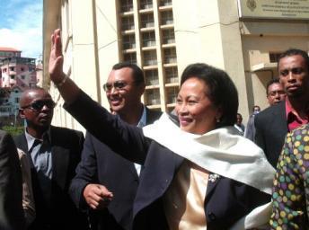 Lalao Ravalomanana est l'une des trois candidats exclus de la course à la présidentielle malgache.
