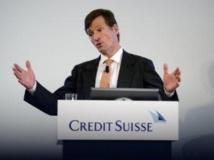 Brady Gougan, directeur du Crédit suisse lors d'une conférence de presse le 1er novembre 2011. AFP / FABRICE COFFRINI