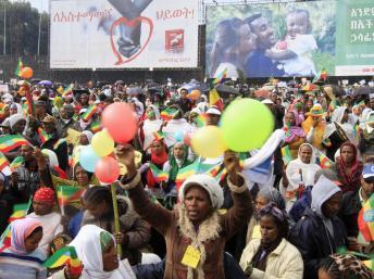 De 60 000 à 80 000 manifestants ont défilé contre les extrémismes religieux à Addis-Abeba, le 1er septembre 2013. REUTERS/Tiksa Negeri