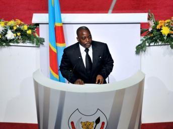 Joseph Kabila dans son discours à la nation au Palais du peuple, le 15 décembre 2012. AFP/Junior D. Kannah