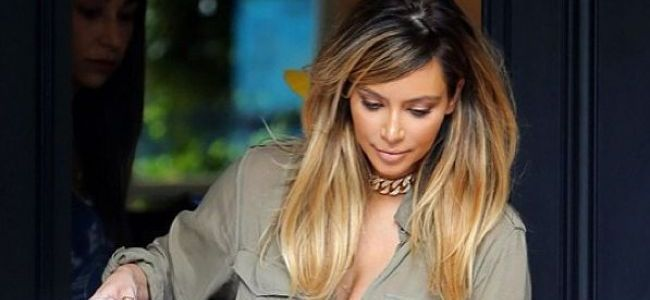Kim kardashian blonde vous aimez - Meches blondes sur brune ...