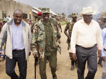 Leaders du M23 à Bunagana, dans l'est de la RDC, le 8 septembre 2013. REUTERS/Kenny Katombe