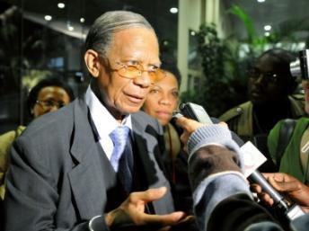 Didier Ratsiraka, l'ancien président malgache, doit s'exprimer ce mercredi 11 septembre. Grant Lee Neuenburg / Reuters