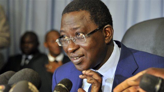 Soumaïla Cissé lors d'une conférence de presse à Bamako, le 2 août 2013. REUTERS/Joe Penney
