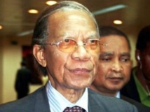 L'ancien président malagache Didier Ratsiraka en 2009. AFP/ Grégoire Pourtier