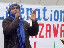 Mossa Ag Attaher, le porte-parole du Mouvement national de libération de l'Azawad (MNLA). AFP PHOTO/PIERRE VERDY