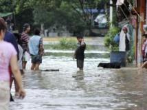Les rues inondées de Poza Rica, dans l'Etat du Veracruz, le 14 septembre 2013. REUTERS/Jorge Huerta