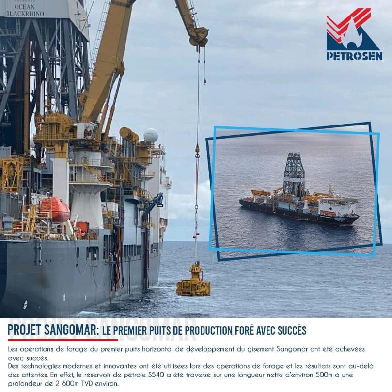 La société Petrosen annonce le forage à succès du premier puits de pétrole de Sangomar
