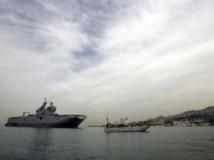 Le BPC «Tonnerre» de l'armée française, dans la baie de Jounieh, au Liban, le 26 mars 2013. PHOTO/JOSEPH EID