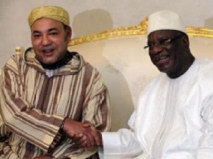 Les débuts d'une coopération fructueuse entre le roi du Maroc, Mohammed VI, et le nouveau président malien, IBK ? REUTERS/Thierry Gouegnon
