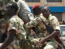 Des soldats en patrouille dans les rues de Bangui, le 2 septembre 2013. AFP PHOTO / PACOME PABANDJI