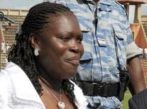 Simone Gbagbo à Abidjan, le 14 septembre 2008. AFP PHOTO / ISSOUF SANOGO