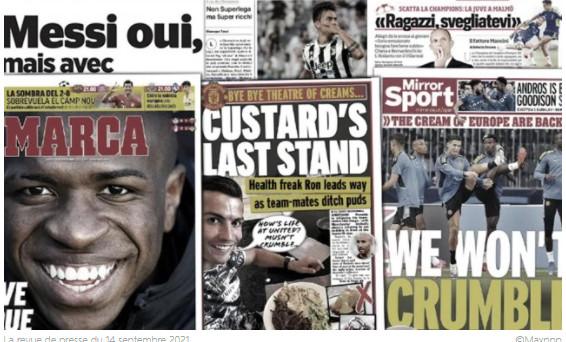 L'Angleterre se régale du régime imposé par Cr7 à MU, la Juventus en pleine panique