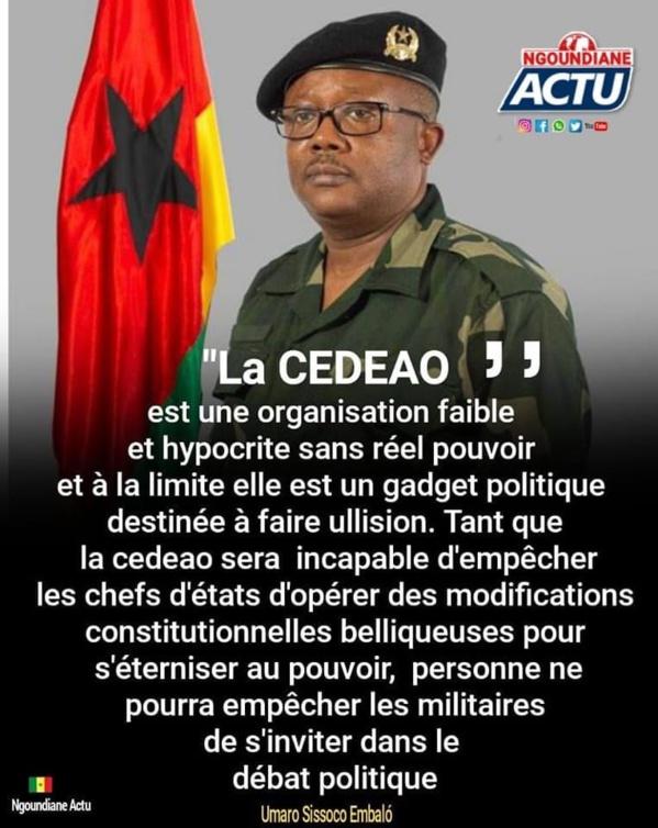 """""""La CEDEAO est une organisation hypocrite, sans réel pouvoir"""": sur les traces de faux propos attribués au Président Bissau-guinéen"""
