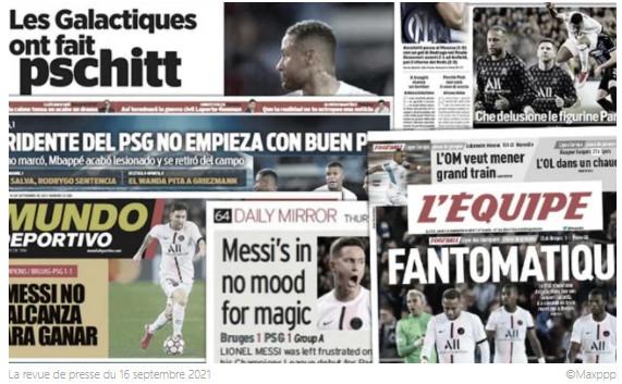 Toute l'Europe juge le faux départ du PSG et son trio magique