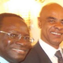 ©Dr.P.Herzberger-Fofana . De gauche à droite  Dr. Karamba Diaby (SPD-Halle) et Charles Huber (CDU-Darmstadt)  Les deux députés