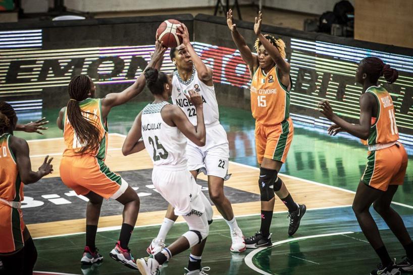 Premier 1/4 de finale Afrobasket féminin: le Nigéria domine largement la Côte d'Ivoire à la mi-temps