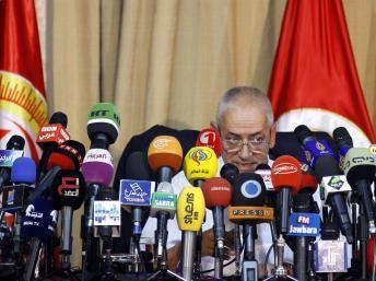 Houcine Abassi, secrétaire général de la puissante organisation syndicale UGTT, est au coeur de la médiation entre gouvernement et opposition depuis deux mois. REUTERS/Anis Mili