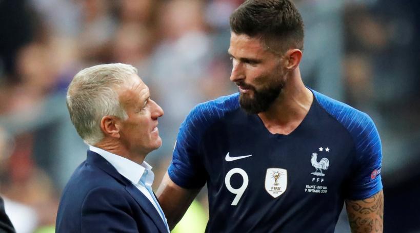 Équipe de France: Giroud surpris par l'attitude de Deschamps