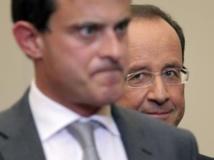 François Hollande, président français, et Manuel Valls, minitre de l'Intérieur, à l'Elysée le 10 octobre 2012. AFP PHOTO POOL / Philippe Wojazer