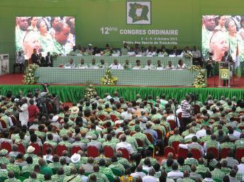 12e congrès du PDCI à Abidjan, Côte d'Ivoire, le 3 octobre 2013. AFP PHOTO/SIA KAMBOU