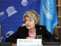 Irina Bokova, réélue à la tête de l'Unesco, Paris, le 4 octobre 2013. Unesco/DR