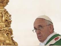 Le pape François plaide à Assise en faveur des exclus et d'une Eglise dépouillée. REUTERS/Tony Gentile