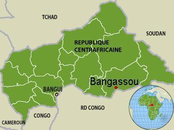 Carte de la République centrafricaine. RFI /L. Mouaoued