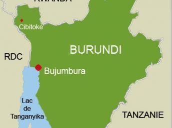 La carte du Burundi. (Carte : I.Artus/RFI)