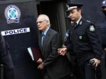 L'ex-ministre grec de la Défense Akis Tsohatzopoulos arrivant à son procès à Athènes le 22 Avril 2013. AFP PHOTO/ FOSPHOTOS / ANGELIKI PANAGIOTOU