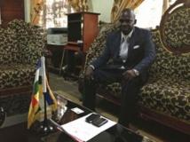 Le ministre de la Justice et porte-parole du gouvernement centrafricain Arsène Sendé. RFI/Laurent Correau