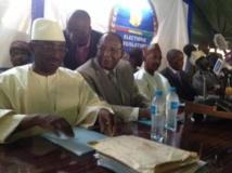 Les membres de l'opposition Sydia Touré, Lansana Kouyaté et Cellou Dalein Diallo. O.Rogez/RFI