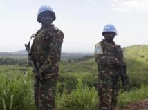 Des soldats de la Monusco en patrouille autour de Goma, dans l'est de la RDC, le 6 octobre. REUTERS/Kenny Katombe