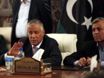 Ali Zeidan en conférence de presse à Tripoli, le 10 octobre 2013 après sa libération. REUTERS/Ismail Zitouny