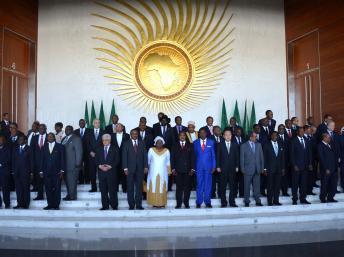 Les chefs d'Etats de l'Union africaine réunis à Addis-Abeba, en Ethiopie, le 27 janvier 2013. REUTERS/Tiksa Negeri