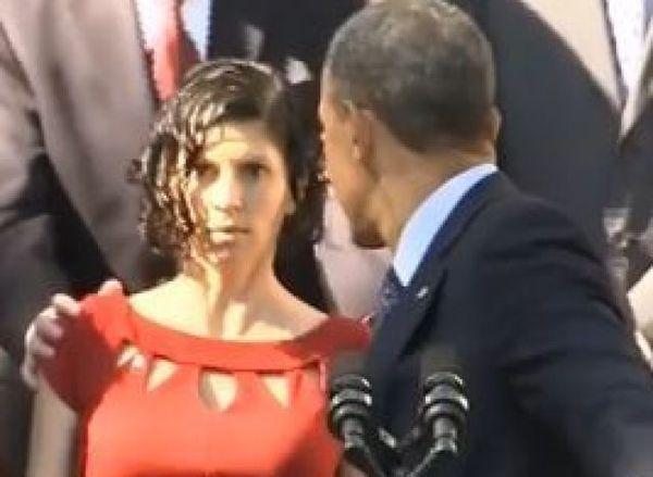Elle fait un malaise pendant un discours d'Obama