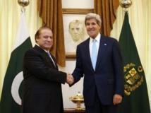 Nawaz Sharif et John Kerry à Islamabad le 1er août 2013. REUTERS/Jason Reed