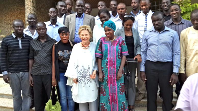 Mme Viviane Wade reçoit le Mouvement Libérez Karim (MLK)