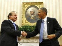 Barack Obama et Nawaz Sharif ce mercredi 23 octobre à Washington. REUTERS/Larry Downing