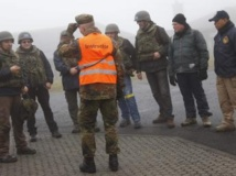 Les inspecteurs de l'OIAC à l'entraînement à Wildflecken en Allemagne peu avant leur déploiement en Syrie. REUTERS/Kai Pfaffenbach