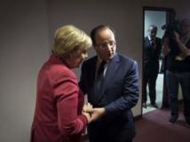 François Hollande et Angela Merkel se sont rencontrés en marge du sommet européen. REUTERS/Bundesregierung/Guido Bergmann