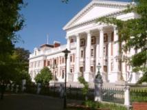 Le Parlement sud-africain, au Cap.