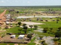 Vue de la ville d'Abyei. Reuters