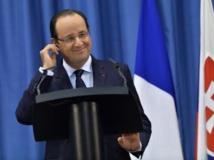 C'est de Brastislava, en Slovaquie, où il était en visite officielle que François Hollande a annoncé la libération des quatre otages d'Arlit, après plus trois années de détention, le 29 octobre 2013. REUTERS/Radovan Stoklasa