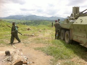 Jeudi l'artillerie lourde continuait de pilonner les collines de Chanzu et Runyonyi pour faire sortir les derniers rebelles de leur cachette. RFI/Léa-Lisa Westerhoff