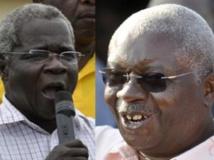 Afonso Dhlakama (G) et Armando Guebuza (D), lors de la campagne présidentielle de 2009. Reuters